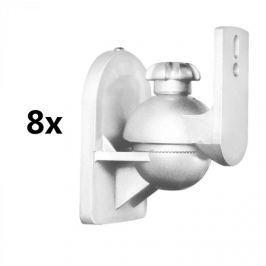 LUA SB-28, fehér, hangfaltartó, 8 darabos készlet, <3,5 kg, házimozi, HiFi
