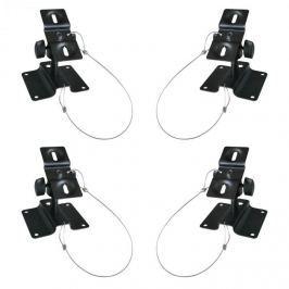 LUA SB-01, 10kg, fekete, négy univerzális hangfaltartó készlete