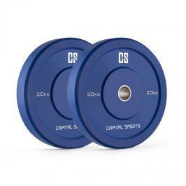 CAPITAL SPORTS Nipton Bumper Plates, kék, 20 kg, pár súlyzótárcsa, keménygumi
