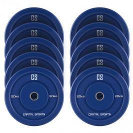 CAPITAL SPORTS Nipton Bumper Plates, kék, 5 pár, 20 kg, keménygumi