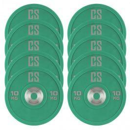 CAPITAL SPORTS Performan Urethane Plates, zöld, 10 kg, 5 pár, súlytárcsák