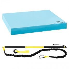 CAPITAL SPORTS Riprider felfüggeszthető edző készlet balance alátéttel, 9 kg húzóerő, EVA, kék