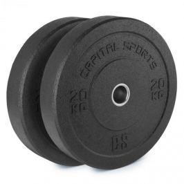 CAPITAL SPORTS Renit, hi temp gumikerék, 50,4 mm, alumínium mag, gumi, 2 x 20 kg