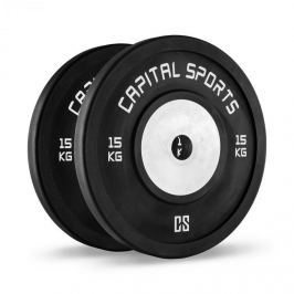 CAPITAL SPORTS Inval bumper versenytárcsák, 50 mm, alumínium mag, 2 x 15 kg
