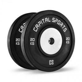 CAPITAL SPORTS Inval bumper versenytárcsák, 50 mm, alumínium mag, 2 x 20 kg