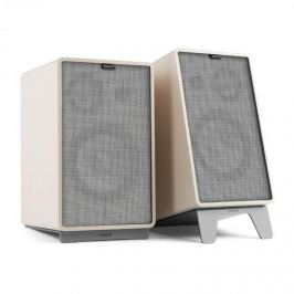 NUMAN Retrospective 1978 Active, aktív hangfal rendszer, fehér, szürke borító, állványok