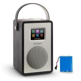 NUMAN Mini Two, design internetrádió, WiFi, DLNA, bluetooth, FM, tölgyfa, tölthető akkumulátor mellékelve