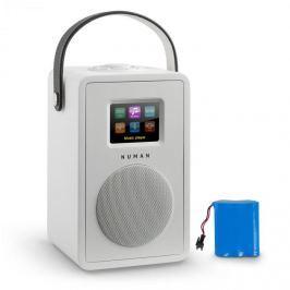 NUMAN Mini Two DESIGN internetrádió, WiFi, DLNA, bluetooth, FM, fehér, tölthető akkumulátor mellékelve