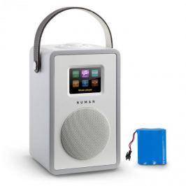 NUMAN Mini Two design, internetrádió, WiFi, DLNA, bluetooth, FM, szürke, tölthető akkumulátor mellékelve