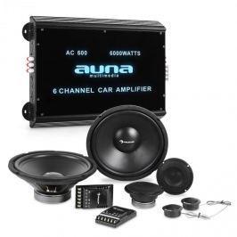 Auna CS Comp 12, HiFi összeállítás autóba, hangfalak teljes készlete/hatcsatornás végerősítő