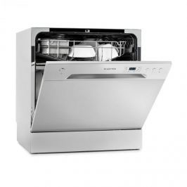 Klarstein Amazonia 8, mini mosogatógép, A+, 1620 W, ezüst