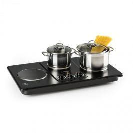 Klarstein Potzblitz hármas főzőlap, 3300 W, rozsdamentes acél, fekete