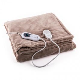 Klarstein Dr. Watson M melegítő takaró, 120 W, mosható, 150x100 cm, mikroplüss, bézs