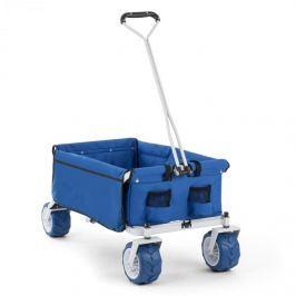Waldbeck The Blue, kék, kézikocsi, összecsukható, 70 kg, 90 l, Ø10 cm-es kerekek