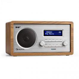 Auna Harmonica DAB+/FM rádió, dual alarm, AUX, LCD, fa konstrukció, dió