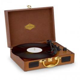 Nostalgy By Auna Peggy Sue retró lemezjátszó, gramofon, USB, AUX, fa hatás/arany