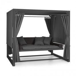 Blumfeldt Eremitage luxus hintaszék, 236x180x210cm, sötétszürke/fekete