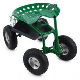 Waldbeck Park Ranger, zöld, kerti ülőke, 130 kg, mozgó, tárolóhely, acél