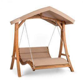 Blumfeldt Bermuda hintaszék, kerti hintaszék, 130 cm, dupla szék, napellenző