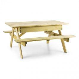 Blumfeldt Zaubersand, gyerek piknik asztal, játékasztal, homokozó, igazi borókafa