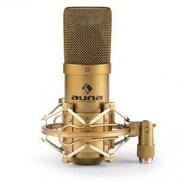 Auna MIC-900G USB kondenzátor mikrofon, vese, stúdió, arany