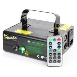 Beamz Cupid dupla lézer, 18 W RG, 6 DMX csatorna, 12 motívum, IR távirányító