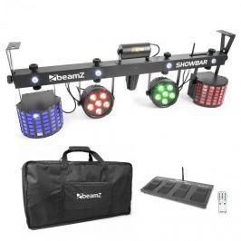 Beamz ShowBar, 2x PAR, 2x butterfly R/G lézer, pedálos kapcsoló és távirányító mellékelve