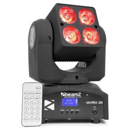 Beamz Matrix 22, 40 W, LED forgófej, mozgófej, moving-head, 4 x 10 W, 9 minta, 7 szín, DMX