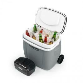 Auna Picknicker Trolley Music Cooler, hűtődoboz, bőrönd, 36 l, BT hangfal, szürke