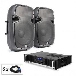 """Electronic-Star """"SPJ Boom 15M KII"""" PA szett, 38cm hangfal pár, erősítő 1500W"""