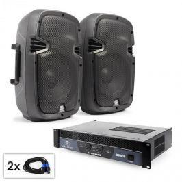 """Electronic-Star """"SPJ Boom 10"""" PA szett, 25cm hangfal pár, erősítő 800W"""