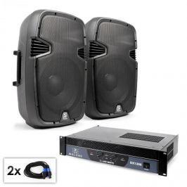 """Electronic-Star """"SPJ Boom 12"""" PA szett, 30cm hangfal pár, erősítő 1200W"""