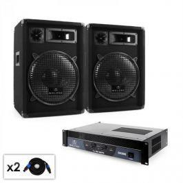 """Malone 2.0 """"Club"""" DJ PA szett, erősítő, hangfal, kábel, 800W"""