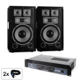 """Electronic-Star Saphir Series """"Warm Up Party TX10"""" PA szett, 2x 25cm hangfallal és erősítővel, 1200W"""