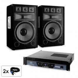 """Electronic-Star Saphir Series """"Warm Up Party TX15"""" PA szett, 2x 38cm hangfallal és erősítővel, 2000W"""