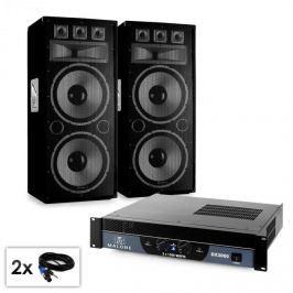 """Electronic-Star Saphir Series """"Warm Up Party TX215"""" PA szett, 2x 38cm hangfallal és erősítővel, 3000W"""