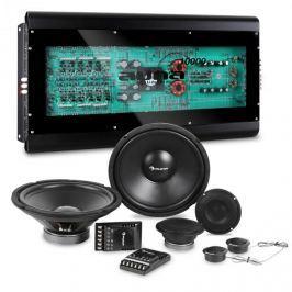 Auna CS Comp 12, HiFi összeállítás autóba, hangfalak teljes készlete/hatcsatornás végerősítő 6x160W RMS
