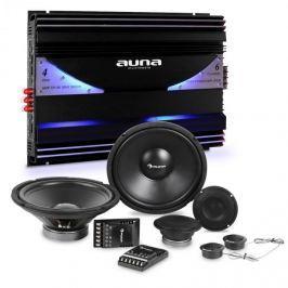Auna CS Comp 12, HiFi összeállítás autóba, hangfalak teljes készlete/hatcsatornás végerősítő, 570 W RMS