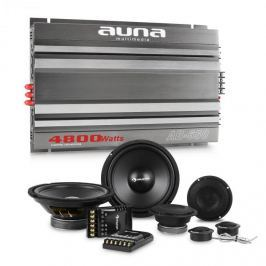 Auna CS Comp 8, HiFi összeállítás autóba, hangfal készlet/hatcsatornás végerősítő