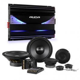 Auna CS Comp 8, HiFi összeállítás autóba, hangfal készlet/6-csatornás végerősítő