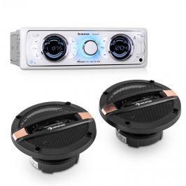 Auna MD-170-BT Car-HiFi-Set autórádió + négyutas autóhangfal, MP3, USB, SD, BT