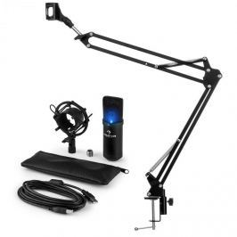 Auna auna MIC-900B-LED USB mikrofon szett V3 kondenzátoros mikrofon + mikrofontartó kar, LED