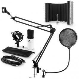 Auna auna MIC-900WH USB mikrofon szett V5 kondenzátoros mikrofon, pop filter, mikrofonernyő, mikrofon kar, fehér