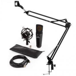 Auna MIC-920B V3, fekete, mikrofon készlet, USB kondenzátoros mikrofon, kar