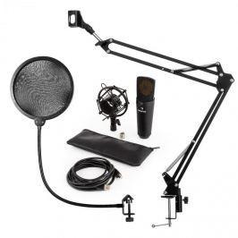 Auna MIC-920B USB mikrofon szett, V4 kondenzátoros mikrofon, pop filter, mikrofon kar