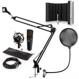 Auna auna MIC-920B USB mikrofon szett V5 kondenzátoros mikrofon, pop filter, mikrofonernyő, mikrofon kar