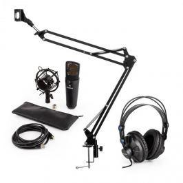 Auna auna MIC-920B USB mikrofon szett V3 fejhallgató, kondenzátoros mikrofon, mikrofon kar