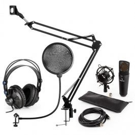 Auna auna MIC-920B USB mikrofon szett V4 fejhallgató, mikrofon, pop filter, mikrofon kar