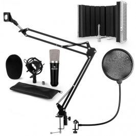 Auna CMO003 V5, fekete, mikrofon készlet, kondenzátoros mikrofon, mikrofonkar, XLR