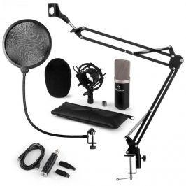 Auna auna CM003 mikrofon szett V kondenzátoros mikrofon, USB-konverter, mikrofontartó kar, fekete
